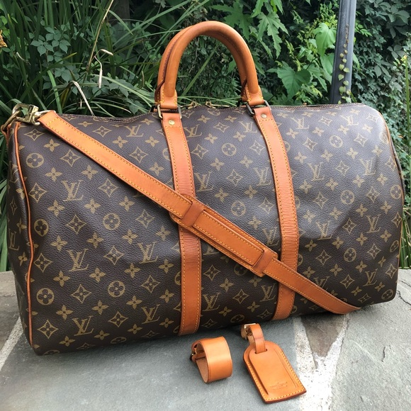 28118176e12 💯LV Keepall Bandouliere 50 W/STRAP & ACCESSORIES